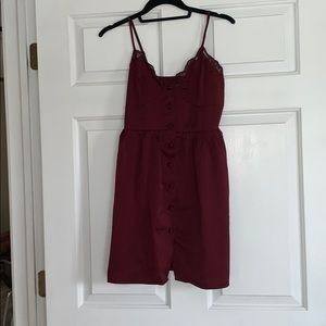 NWOT nasty gal Red wine colored silk dress